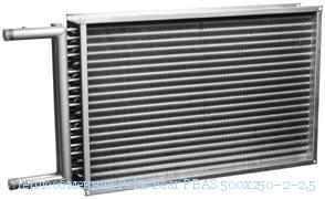 Нагреватель водяной для прямоугольных каналов ВНП 400-200/2