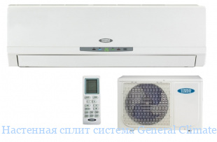 Настенная сплит система General Climate GC/GU-F24HRN1